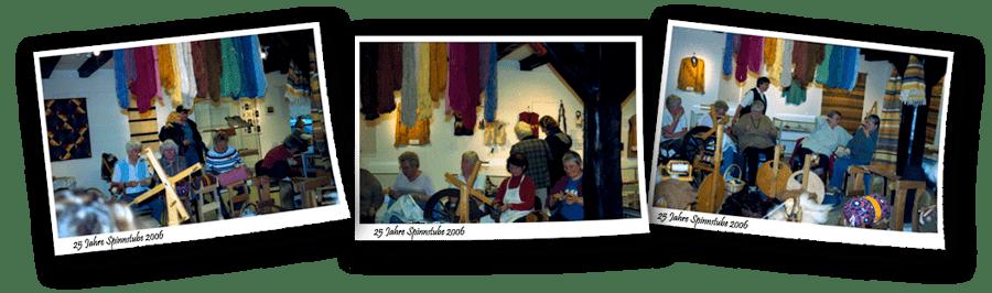 Über uns - 25jahre-Spinnstube-Springe-2006, 3 Polaroid-Fotos mit Aufnahmen aus der Ausstellung