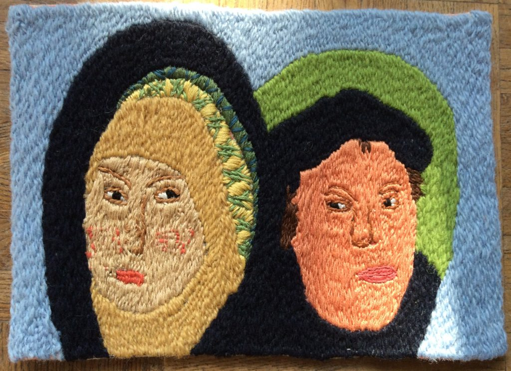 Reformationstag - Klostersticharbeit - Martin Luther und seine Frau Katharina von Bora
